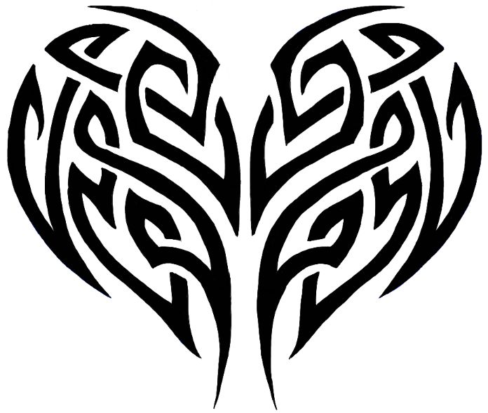 How To Draw A Tribal Heart Tattoo Design With Easy Step By