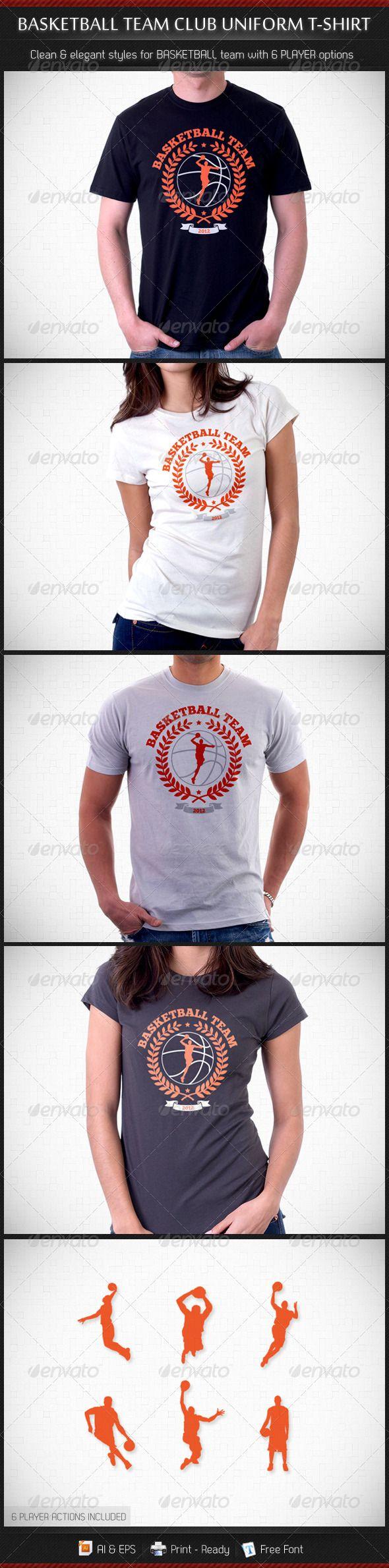 Basketball Team Club Uniform T-Shirt - DOWNLOAD NOW