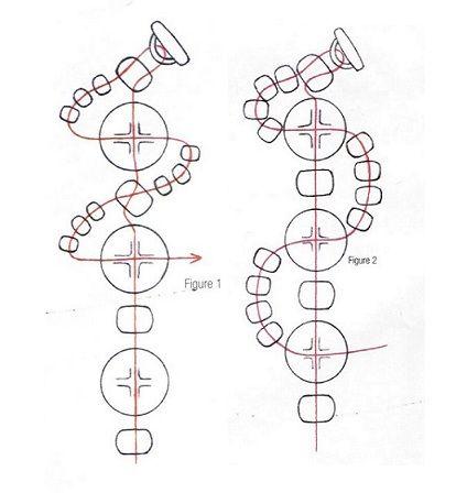 схема плетения браслетов змейкой из бисера (2 of 2)