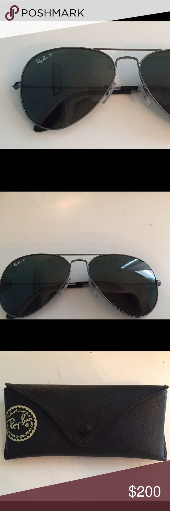 Black Polarized Ray Bans all black carbon fibre aviators *polarized* in perfect condition only worn once or twice! Ray-Ban Accessories Sunglasses