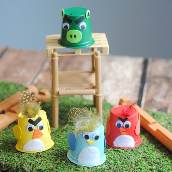 Upcycle your K-Cups! This Angry Birds craft for kids is cute and easy!