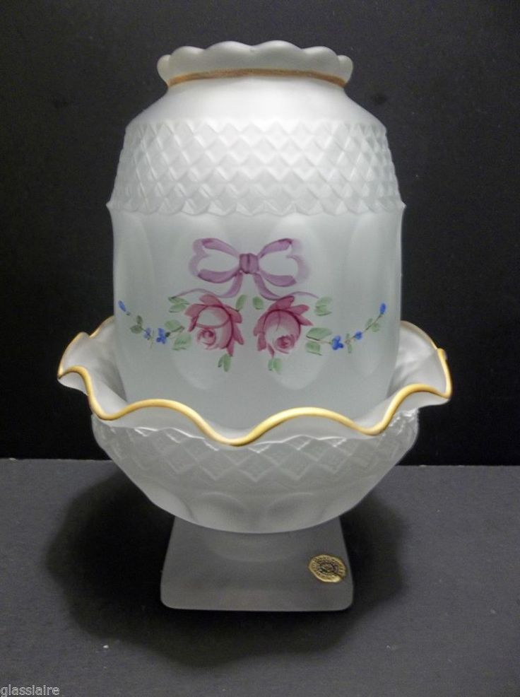 Westmoreland SATIN Glass FAIRY LAMP Glimmer Light Candle ...