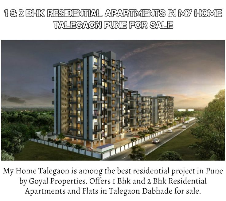 1 and 2 Bhk Residential Apartments in My Home Talegaon in Pune for sale