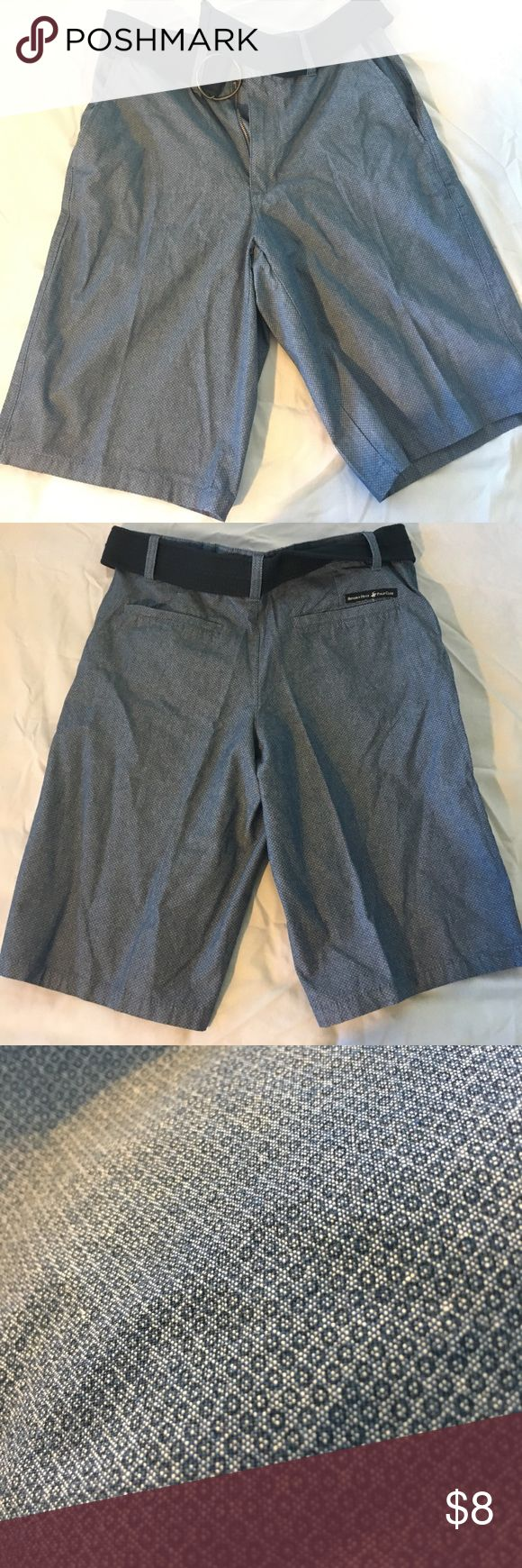Beverly Hills Polo Club Shorts From the Company Beverly Hills Polo, Size 30 shorts. They have little detail all over the short and belt is included. NEVER BEEN WORN! Beverly Hills Polo Club Shorts Flat Front