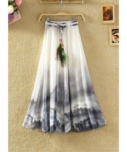 Latest Grey and White Printed Skirt..  http://www.kmozi.com/western-wear/skirt/latest-grey-and-white-printed-skirt-1084