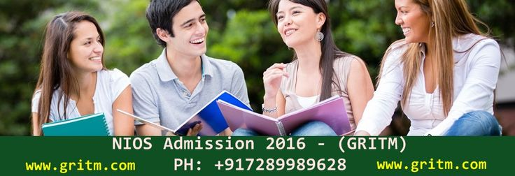 October NIOS 2016 NIOS Admission 2016 For National Institute of Open Schooling In NIOS 10th & 12th 2016 NIOS October Admission 2016 NIOS 10th 12th Class National Institute of Open Schooling Secondary and Senior Secondary Education Courses 2015-16.