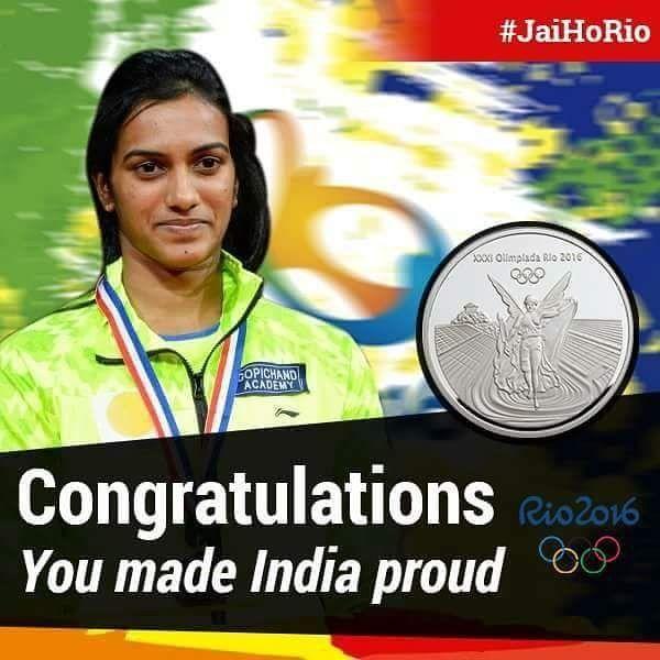 Congatulations #sandhuyou made India proud.