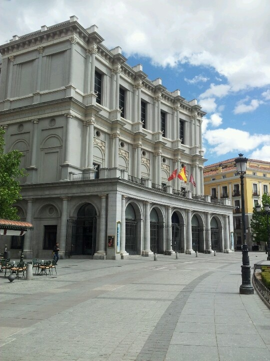 Opera house in The Plaza de Oriente, Madrid