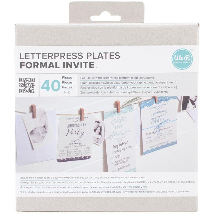 Lifestyle Letterpress Plates-Formal Invite - formal invite