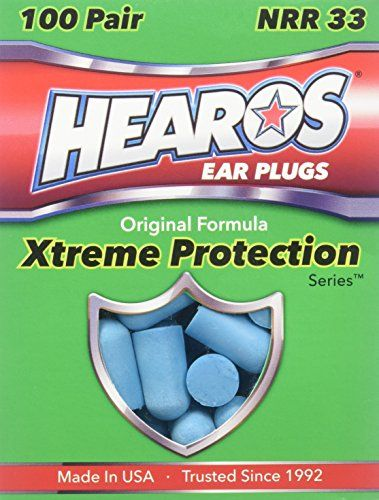HEAROS XTREME 100 Pair Foam EAR PLUGS With NRR 33 Noise Canceling Hearing Protection -  Sound advice from hearing professionals Hearing loss is irreversible so it is imperative that you safeguard your hearing from jackhammers, sirens and other extreme noise levels that harm nerve endings. HEAROS Xtreme Protection Ear Plugs prevent a deluge of damaging decibels from assailing your e...