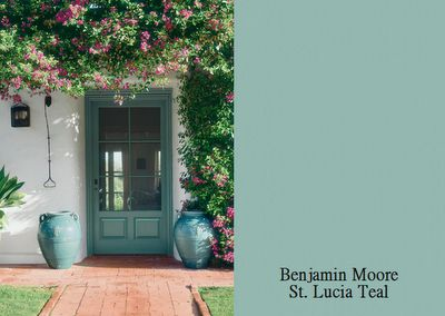 Home Remodeling Improvement - Bright Tropical Colors   Fabulous Exterior Paint