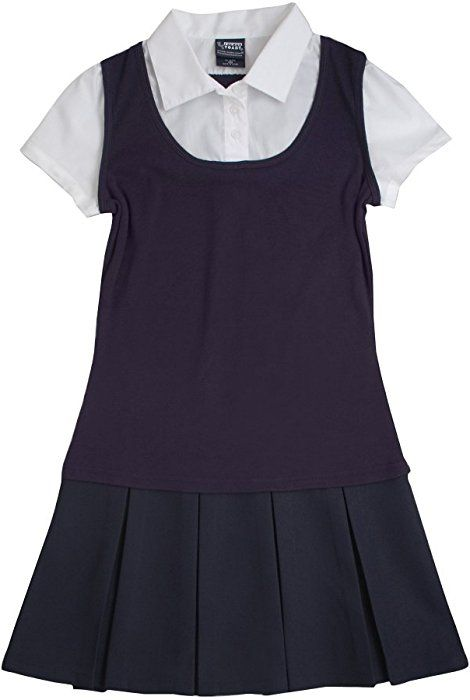 ce2c2863d3bcc Amazon.com: French Toast Little Girls' 2-Fer Pleated Dress, Navy, 5:  Clothing