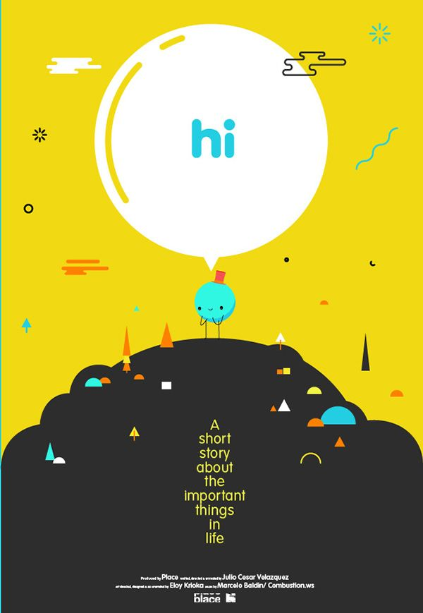 """Hi"". A short story about the important things in life on Behance"