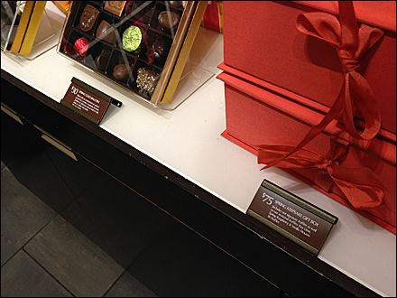 Godiva Chocolate Brown Labels Face Up