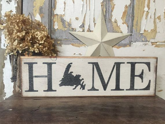 Newfoundland Home Rustic Wood Sign Made In by PrimPickinsCanada