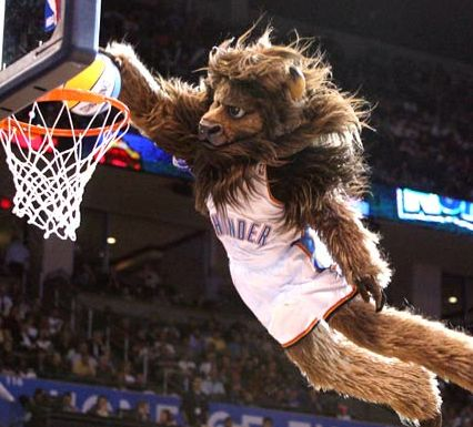 What is the name of the #Thunder Mascot? FREE #NBA download here