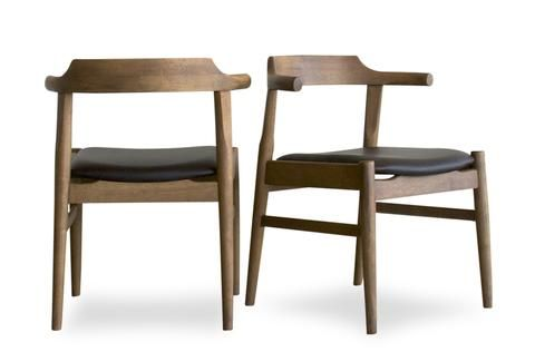 Zola Dining Chair Set Of 2 Dark Chocolate Leather Tb3 Home In