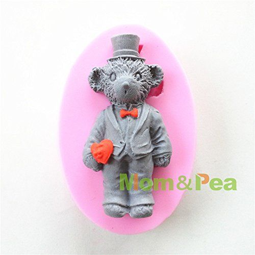 Mompea 0616 Mr Bear Shaped Silicone Mould for Fondant Cake Sugar Paste Cake Decoration 3d Cake Toppers Mold 855821cm 70g -- Visit the image link more details.(This is an Amazon affiliate link and I receive a commission for the sales)
