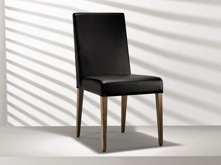 Stuhl aus Leder mit hoher Rückenlehne D4-1 Kollektion Stühle by Hülsta-Werke Hüls