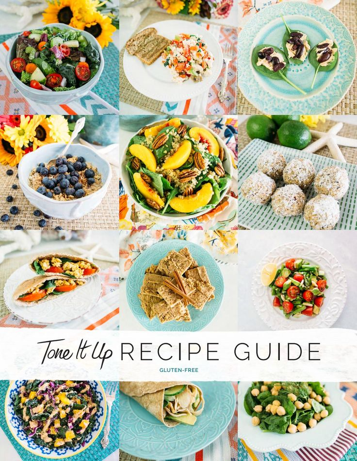 Your Tone It Up Recipe Guide - Gluten Free