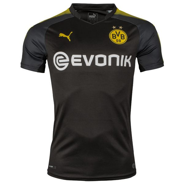 Borussia Dortmund Away Soccer Jersey 17/18 This is the Borussia Dortmund Away Football Shirt 17/18. The Borussia Dortmund 17-18 away kit is part of Puma's Step Out football kits collection. The Dortmund 2017-18 away shirt is designed to bring a new look compared to last season's striped away shirt. It has a pure black base which […]