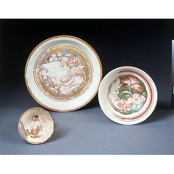 Plato Cizhou con diseños de pato y flor de loto; Lugar de Origen: Norte de China, 1200-1234 (dinastía Jin) Dimensiones: Dámetro: 21 cm Museum number: C.139-1965