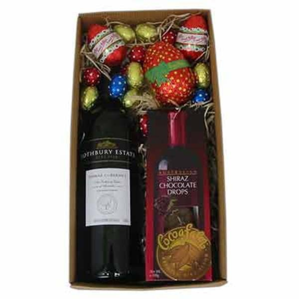 The 84 best easter gift ideas images on pinterest easter gift a chocolate and wine gift hamper especially for easter x rothbury estate cabernet shiraz 1 x mint chocolate sticks in replacement of pinot noir drops negle Images
