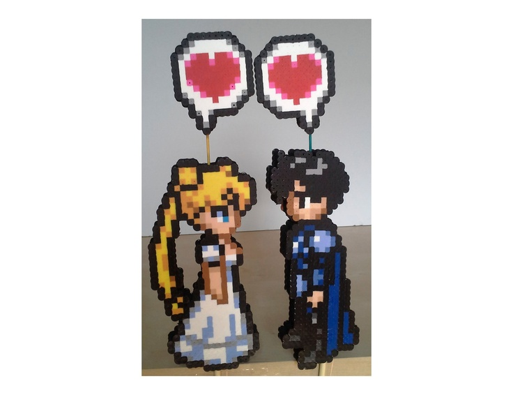 Serenity and Endymion Perler Wedding Cake Toppers. $26.00, via Etsy.