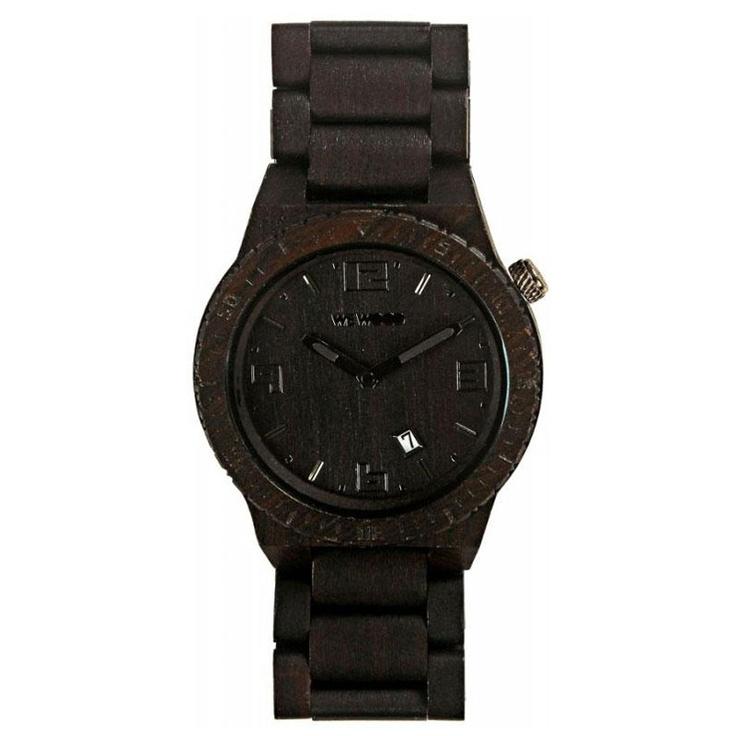 WeWOOD Voyage black houten horloge!   XL formaat!