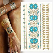 1 шт. [ 799 конструкций ] флэш-тату наклейка хна вспышка татуировки временный татуировки лето стиль золото татуировки Promotio(China (Mainland))