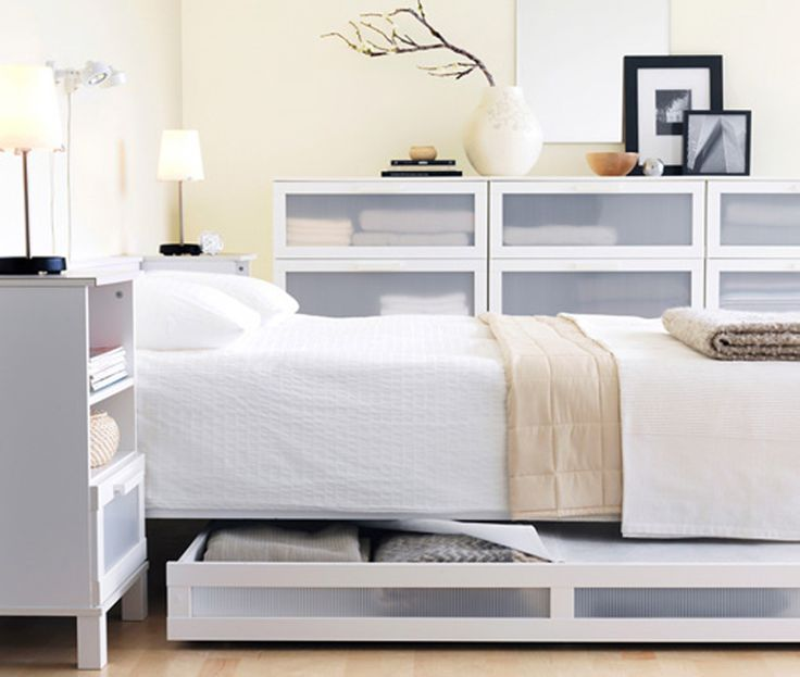 bedroom minimalist ikea bed furniture set in clean white