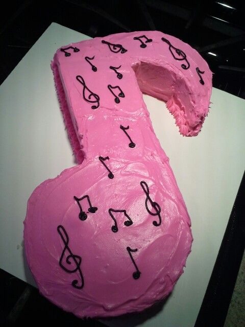 Music note cake for Danielle