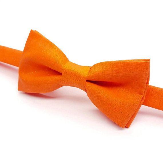 Orange Bow tie, Bright Orange Bow tie, Men's Orange Bow tie, Kids Orange Bow tie by FlyTiesforFlyGuys
