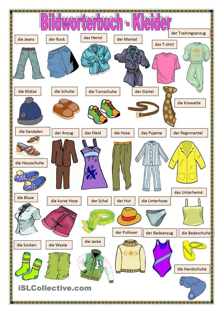 Bildworterbuch Kleider