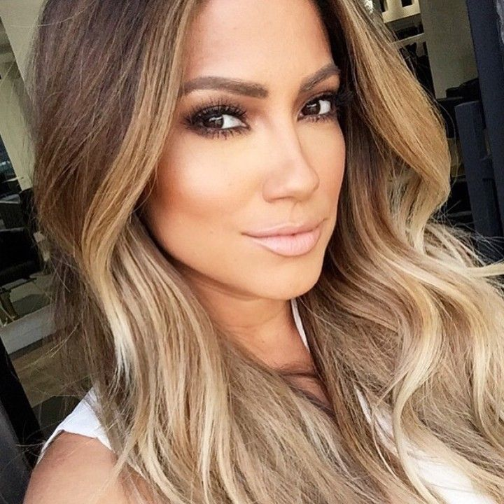 """Working his magic @rokael_lizama on @jessicaburciaga ️BROWS #Dipbrow in Soft Brown  LIPS:  Pure Hollywood #liquidlips  LASHES: @flutterlashesinc in Ashley…"""