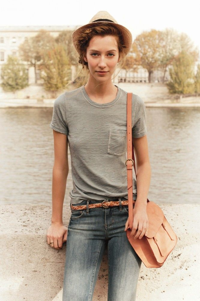 Exclusive pic from Madewell's new catalog. Travel tip: A cross-body bag is imperative for a hands-free good time.
