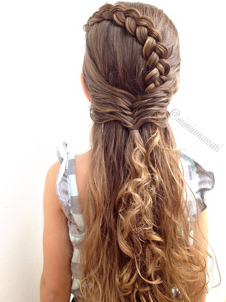 Dutch lace braid into fishtail braid by @mimiamassari