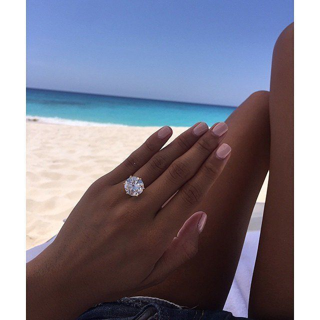 You Ll Want To Take A Closer Look At Rob Dyrdek S Fiancee S Massive Engagement R In 2020 Engagement Ring Pictures Expensive Engagement Rings Celebrity Engagement Rings