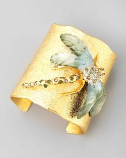 Y17TD Alexis Bittar Golden Allegory Dragonfly Cuff