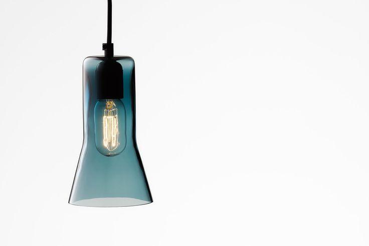 Ross Gardam   Touch pendant in blue glass   Daily Imprint Interview + More Images http://www.dailyimprint.net/2015/09/designer-ross-gardam.html