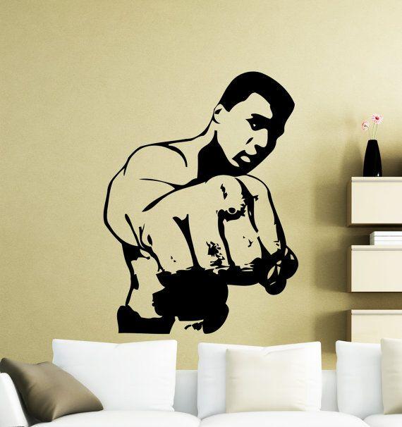 Muhammad Ali parete Sticker Cassius Clay Boxer boxe sport Vinyl Decal casa decorazione interna impermeabile alta qualità murale (23ma)