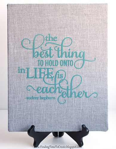 Fabric Wrapped Canvas with Quote