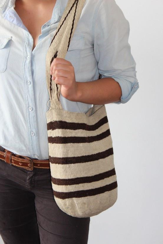 Authentic Vintage Arhuaca Mochila Messenger Bag