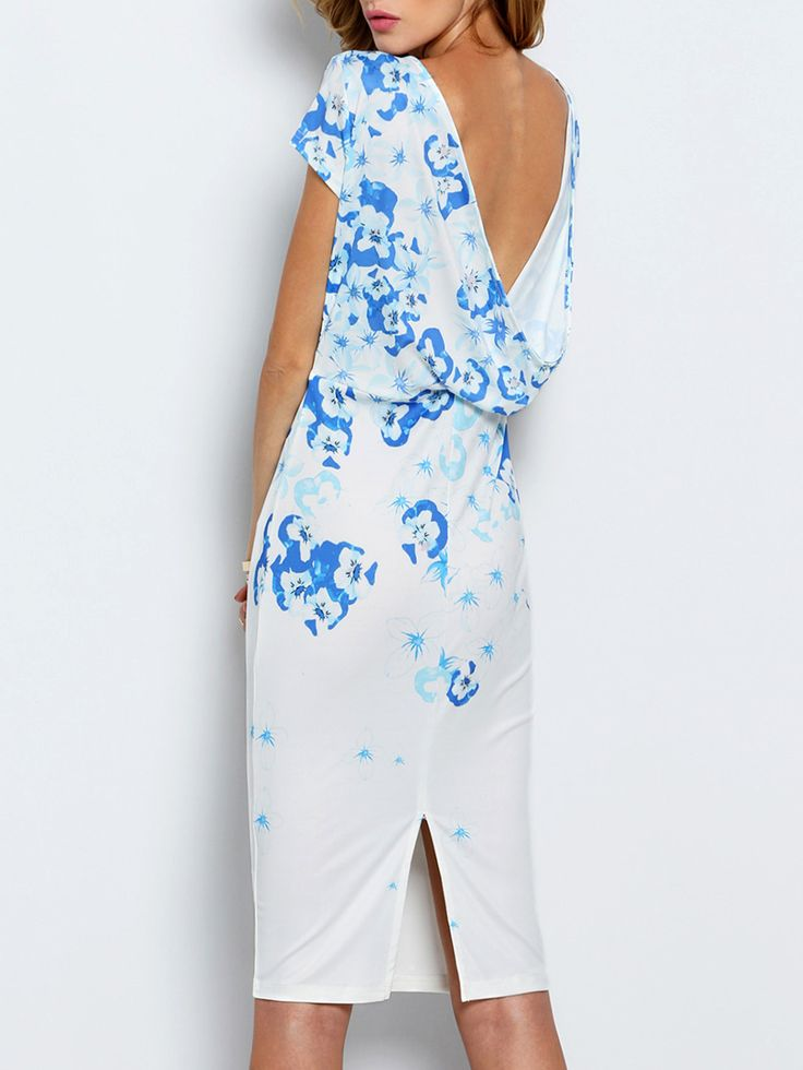 Shop White Workplace Cap Sleeve V Back Flowery Floral Print Fishtail Dress online. SheIn offers White Workplace Cap Sleeve V Back Flowery Floral Print Fishtail Dress & more to fit your fashionable needs.