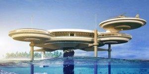 Подводный дисковый отель в Дубае. Water Discus Underwater Hotel