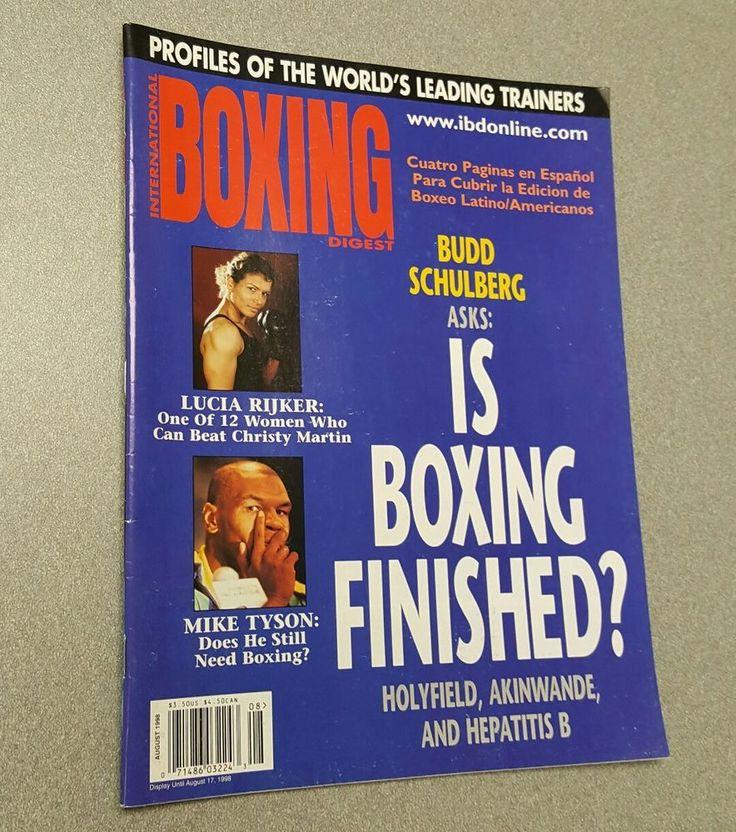 International Boxing Digest August 1998 Magazine LUCIA RIJKER & TYSON