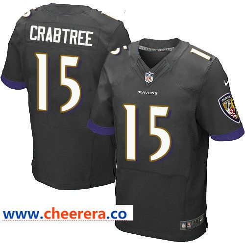 New Nike Ravens #15 Michael Crabtree Black Alternate Men's Stitched NFL  for cheap