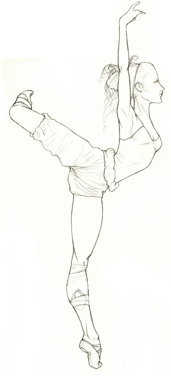 Drawing Bending Over Positions - Learn to dance at BalletForAdults.com!