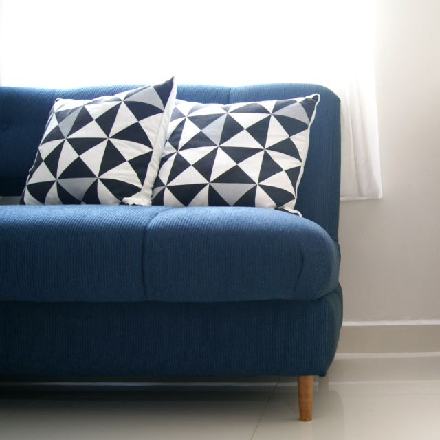 A Futon Makeover, Using Clever Covers And Pillows To Create A New Look On A
