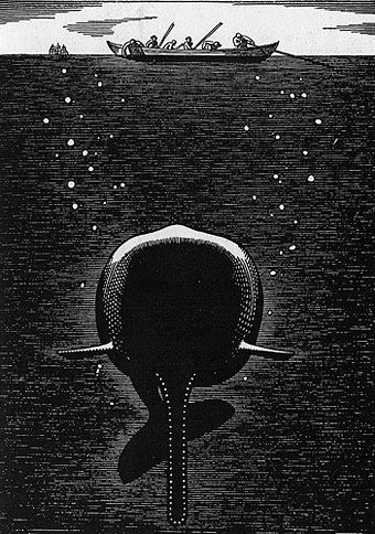 ROCKWELL KENT! RAD NADS! one of my favorite artists, and best artist name! he did this for Moby Dick!
